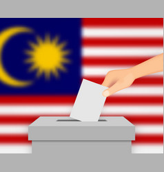Malaysia election banner background vector