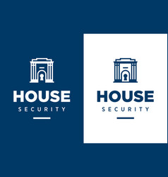 Modern professional logo house security in vector