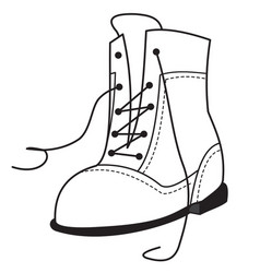 outline of the one shoe vector image