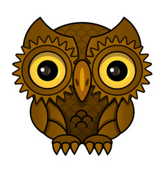 owl or owl bird sketch isolated icon vector image