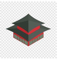 pagoda in south korea isometric icon vector image