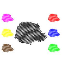 Parana map vector