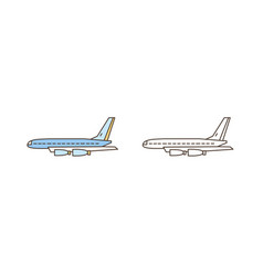 passenger or cargo airliner aircraft symbol vector image