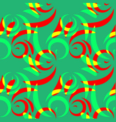 pattern from colored doodles and curls in floral vector image