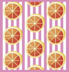 pattern of sliced oranges fruits vector image