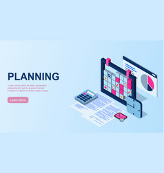 Planning time management concept efficient use vector