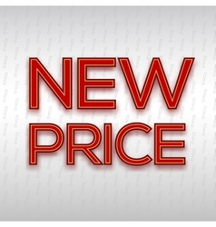 Poster with red inscription new price on the vector image