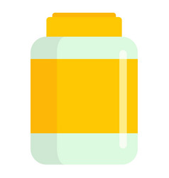 protein plastic jar icon flat style vector image
