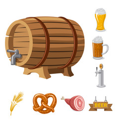 Pub and bar logo set of vector