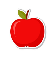 red apple sweet fruit isolated fruit on white vector image