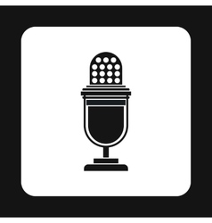 Retro microphone icon simple style vector image vector image