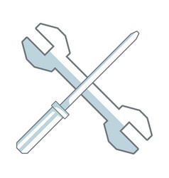 Screwdriver and spanner tool support repair vector