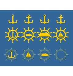 Sea Icons Set vector image
