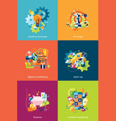 Set concepts for business and finance vector
