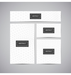 Set of corporate business identity vector