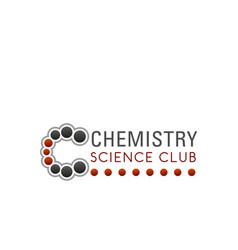 sign for chemistry club vector image