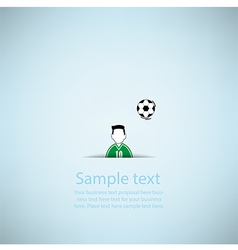 Soccer ball Poster Soccer ball banner design vector
