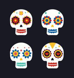 Sugar mexican skulls for dia de los muertos vector