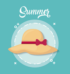 Summer season design vector