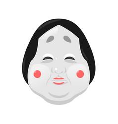 traditional japan mask vector image