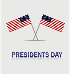 usa waving flags to presidents day presidenta vector image