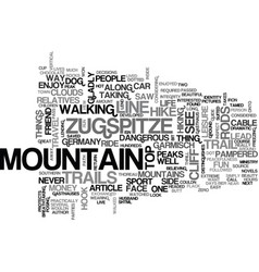 where i draw the line the zugspitze text word vector image