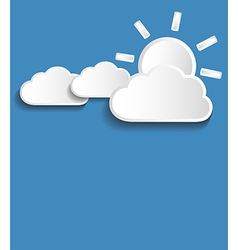 white clouds with sun vector image