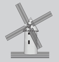 windmill agriculture farming bakery logo or vector image
