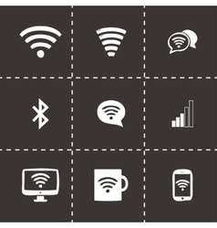 wireless icons set vector image