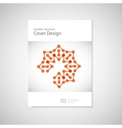 Classic brochure A4 with abstract figures vector image vector image