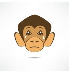 Crying Monkey vector image vector image