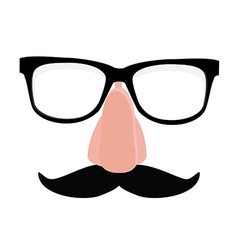 Disguise glasses nose and mustache vector image