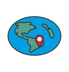 Globe location pointer map vector