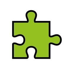 Puzzle piece isolated flat icon design vector image