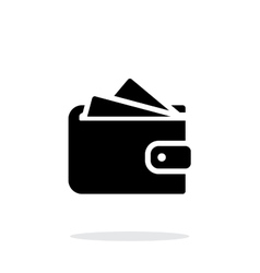Wallet with cards icon on white background vector image