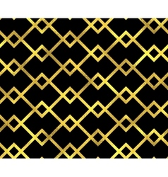 Abstract seamless pattern with golden lines vector image vector image