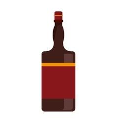 bottle whiskey expensive liquor vector image