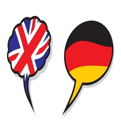 britain germany cloud flags vector image vector image