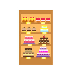 cakes store display vector image