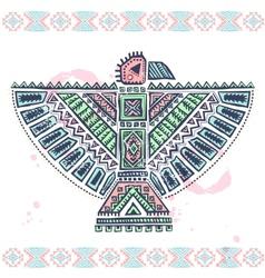 Tribal native ethnic eagle vector image vector image
