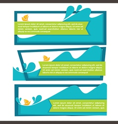 Water banners vector