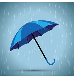 Blue umbrella vector