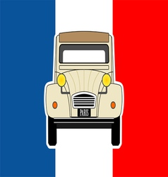 Car and flag vector image vector image