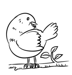 line drawing bird - vector image vector image
