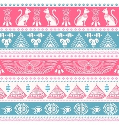 Tribal ethnic seamless pattern with Egypt symbols vector image vector image