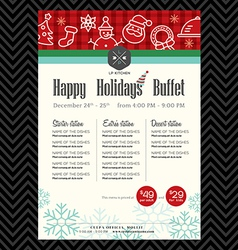 Christmas party festive restaurant menu design vector image vector image