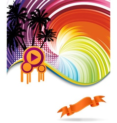 discotheque banner vector image vector image