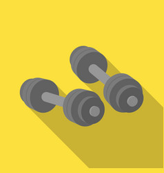 dumbbells icon in flate style isolated on white vector image vector image
