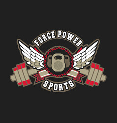 gym sport sign vector image