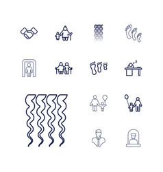 13 adult icons vector